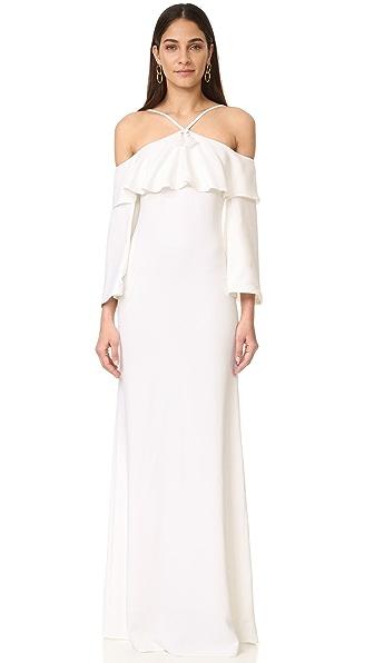 Roberto Cavalli Maxi Dress - Optical White