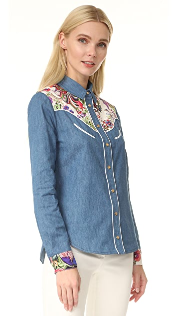 Roberto Cavalli Denim Button Down