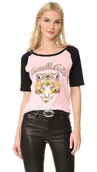 Roberto Cavalli Футболка Cavalli с кошками