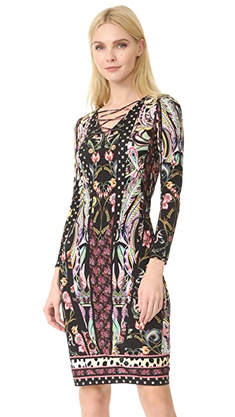 Roberto Cavalli Long Sleeve Dress