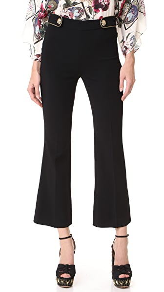 Roberto Cavalli Cropped Pants In Black
