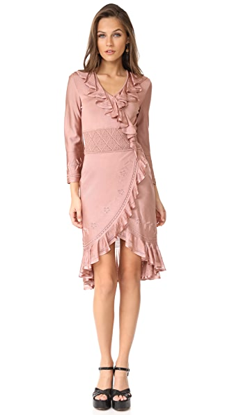 Roberto Cavalli LS Ruffle Dress