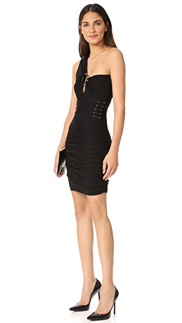 Roberto Cavalli One Shoulder Cutout Dress