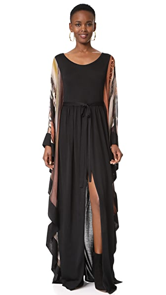 Roberto Cavalli Mixed Fabric Maxi Dress
