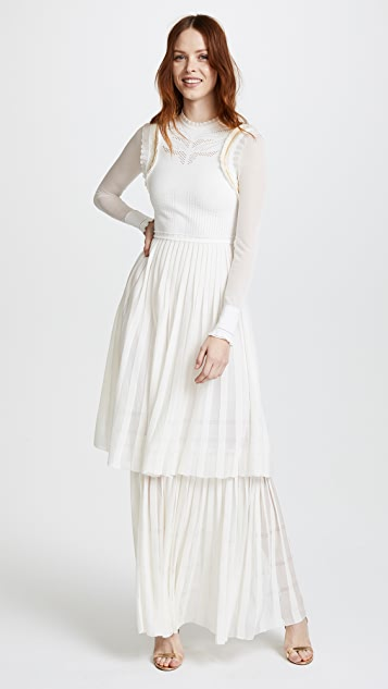 Roberto Cavalli Tiered Maxi Dress