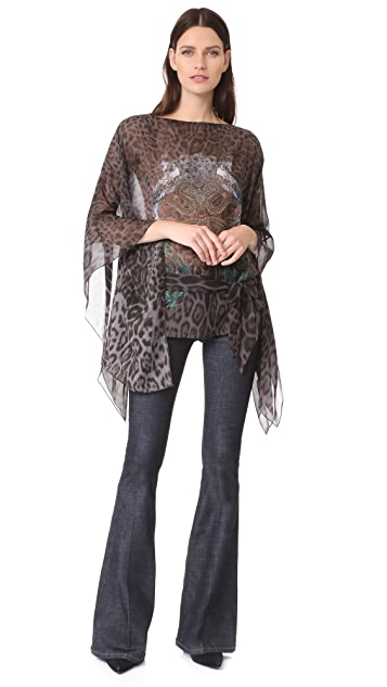 Roberto Cavalli Cinched Patterned Top