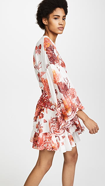 Roberto Cavalli Coral Reef Woven Dress
