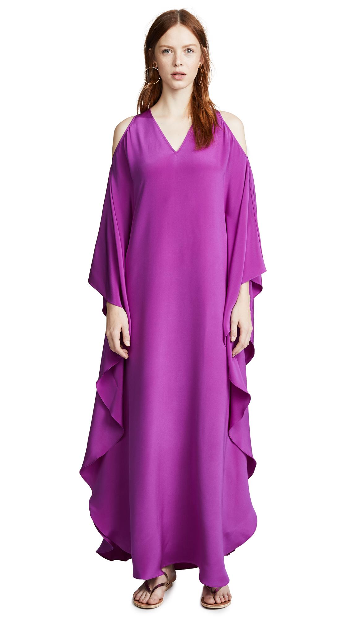 Roberto Cavalli V Neck Cold Shoulder Dress