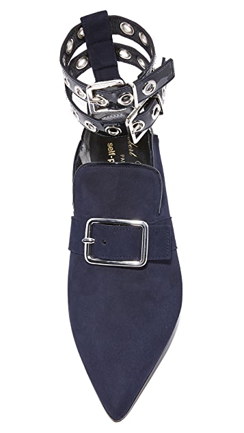 Robert Clergerie x Self Portrait Point Toe Flats