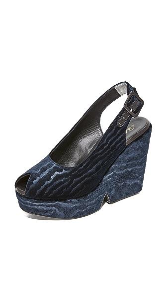 Robert Clergerie Dylann Platform Sandals - Night