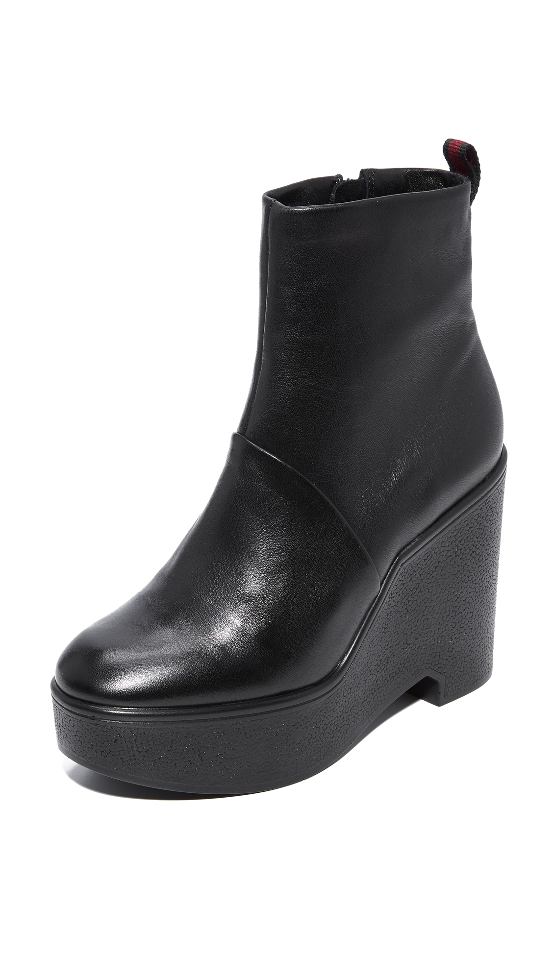 Robert Clergerie Bisouto Block Heel Booties - Black