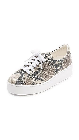 Robert Clergerie Tasket Platform Sneakers In White