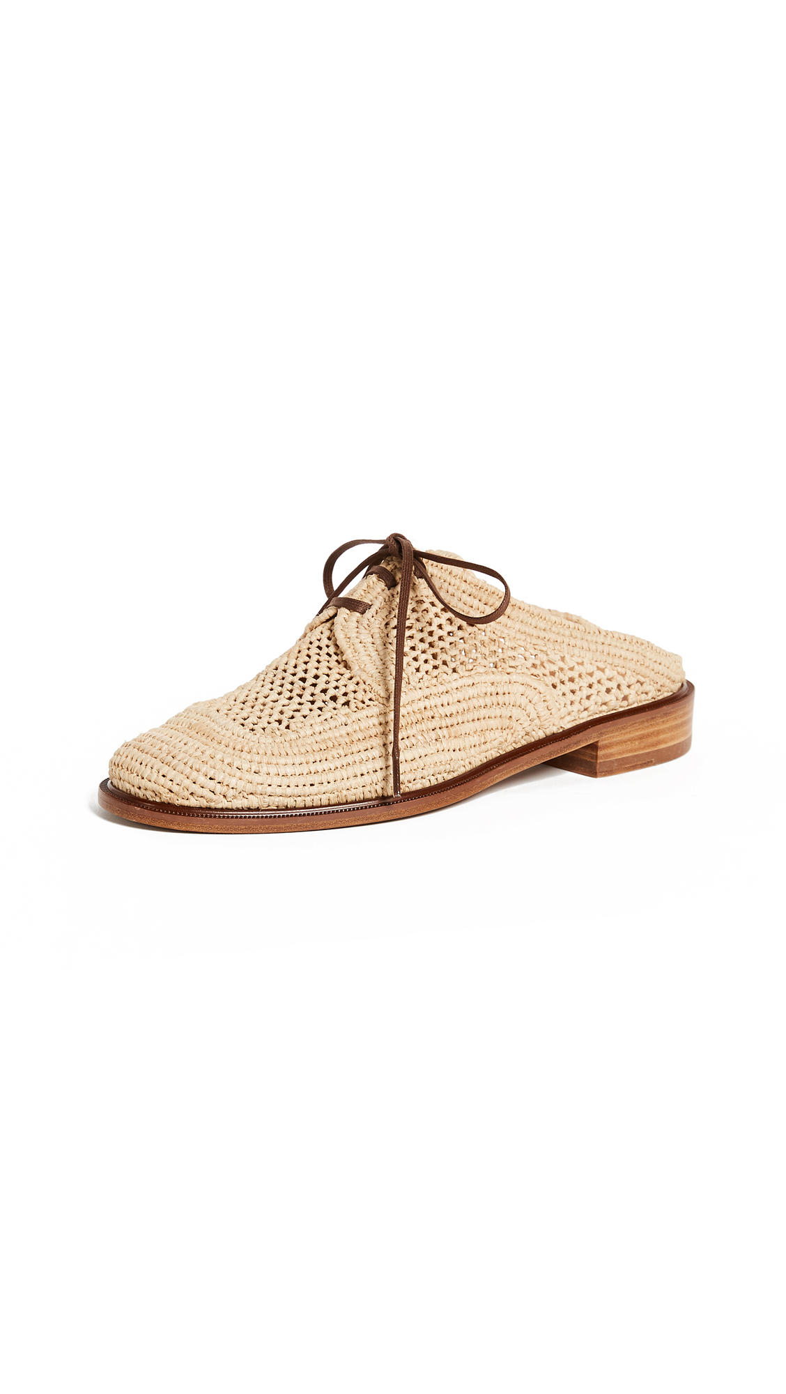Robert Clergerie Jaly Oxford Mules - Natural/Gold