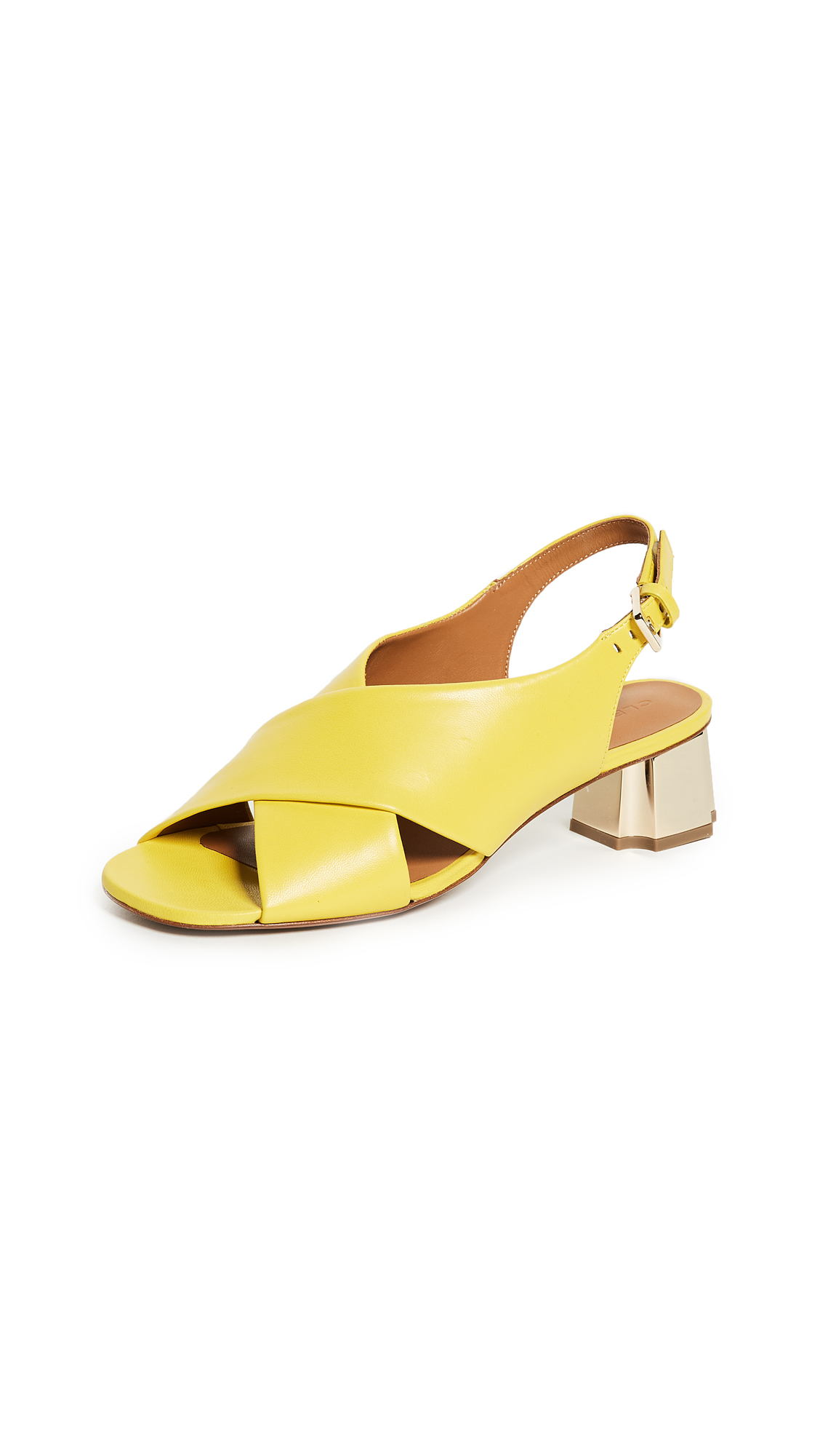 Robert Clergerie Laora Slingback Pumps - Lemon