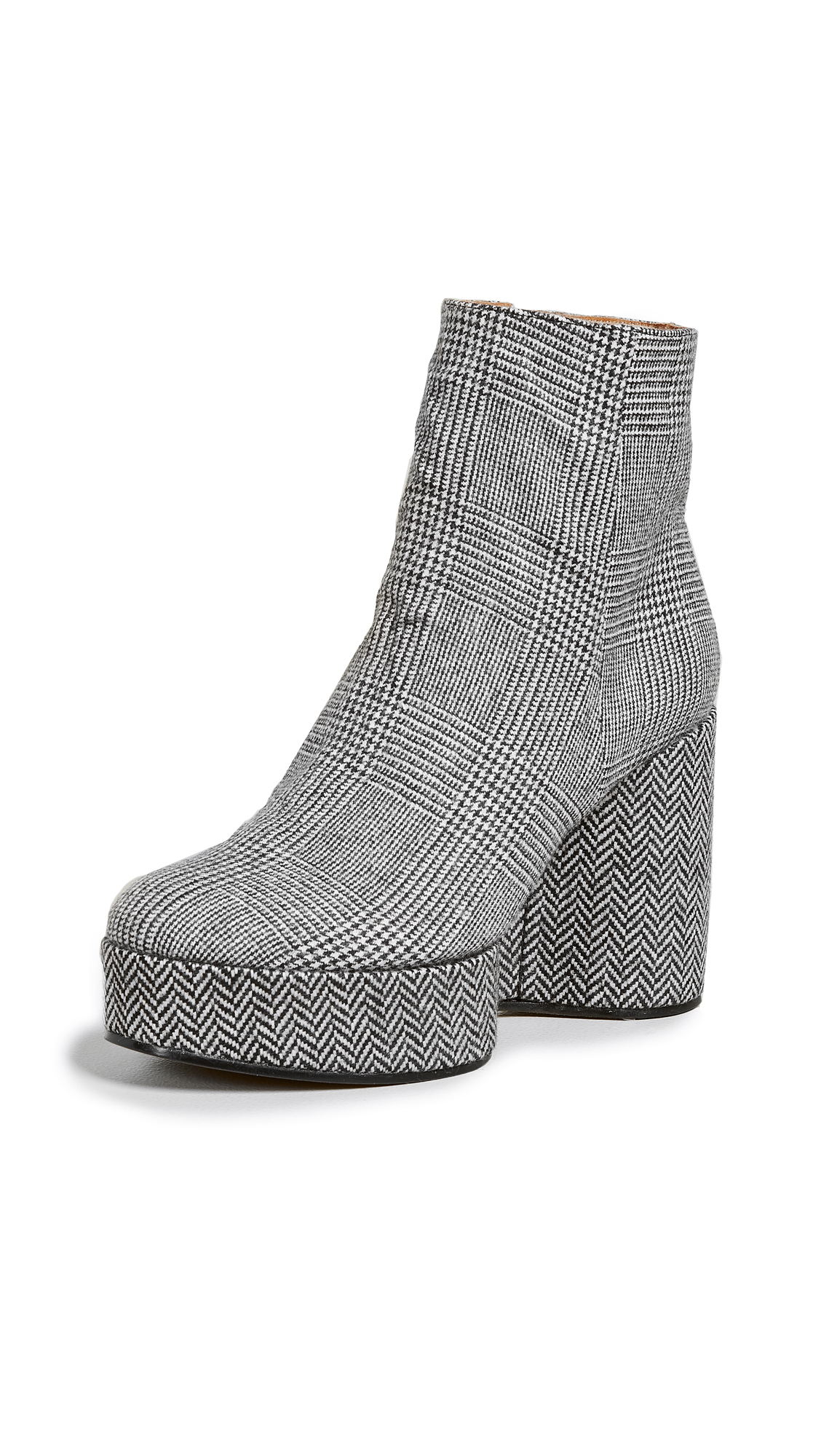 Robert Clergerie Belent Platform Booties - Plaid