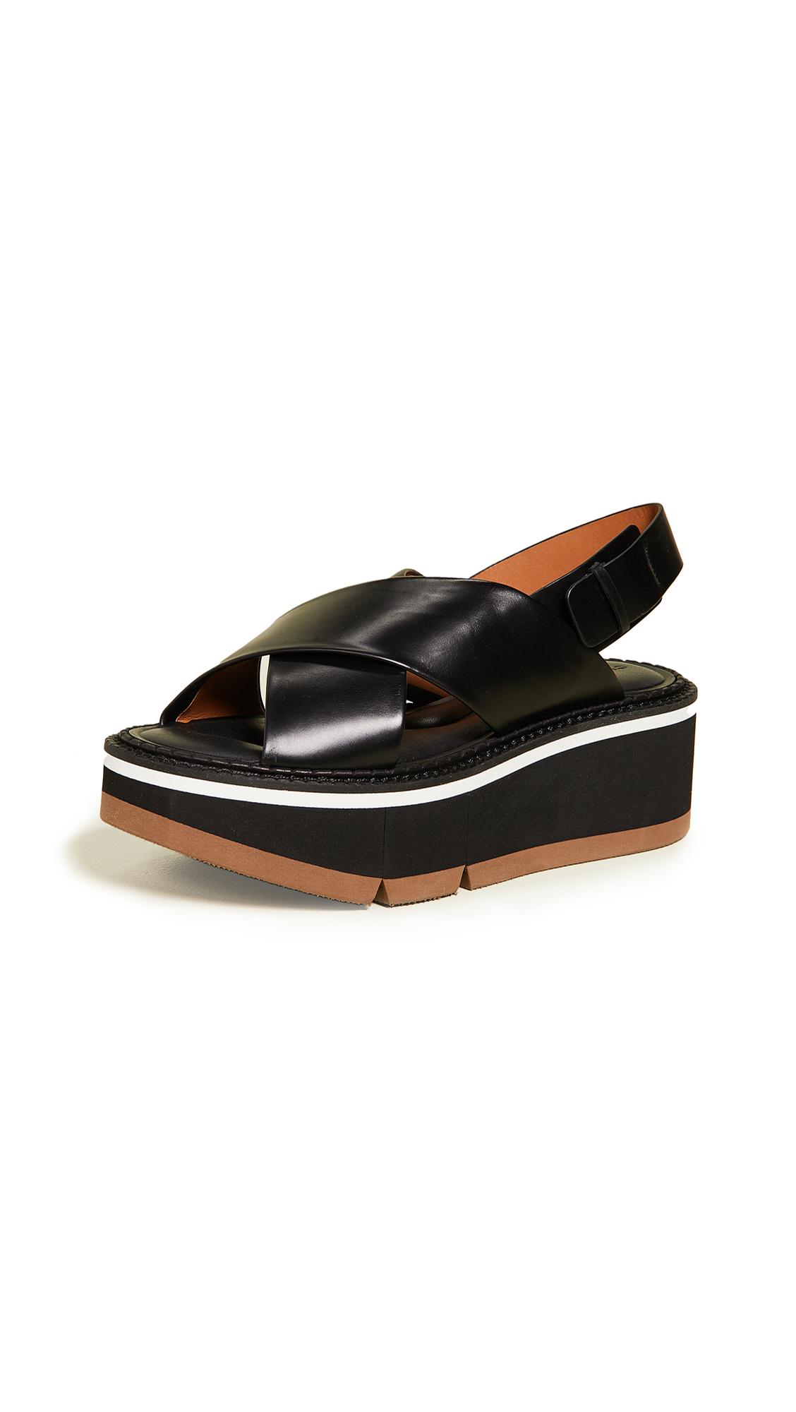 Robert Clergerie Anae Crisscross Sandals - Black