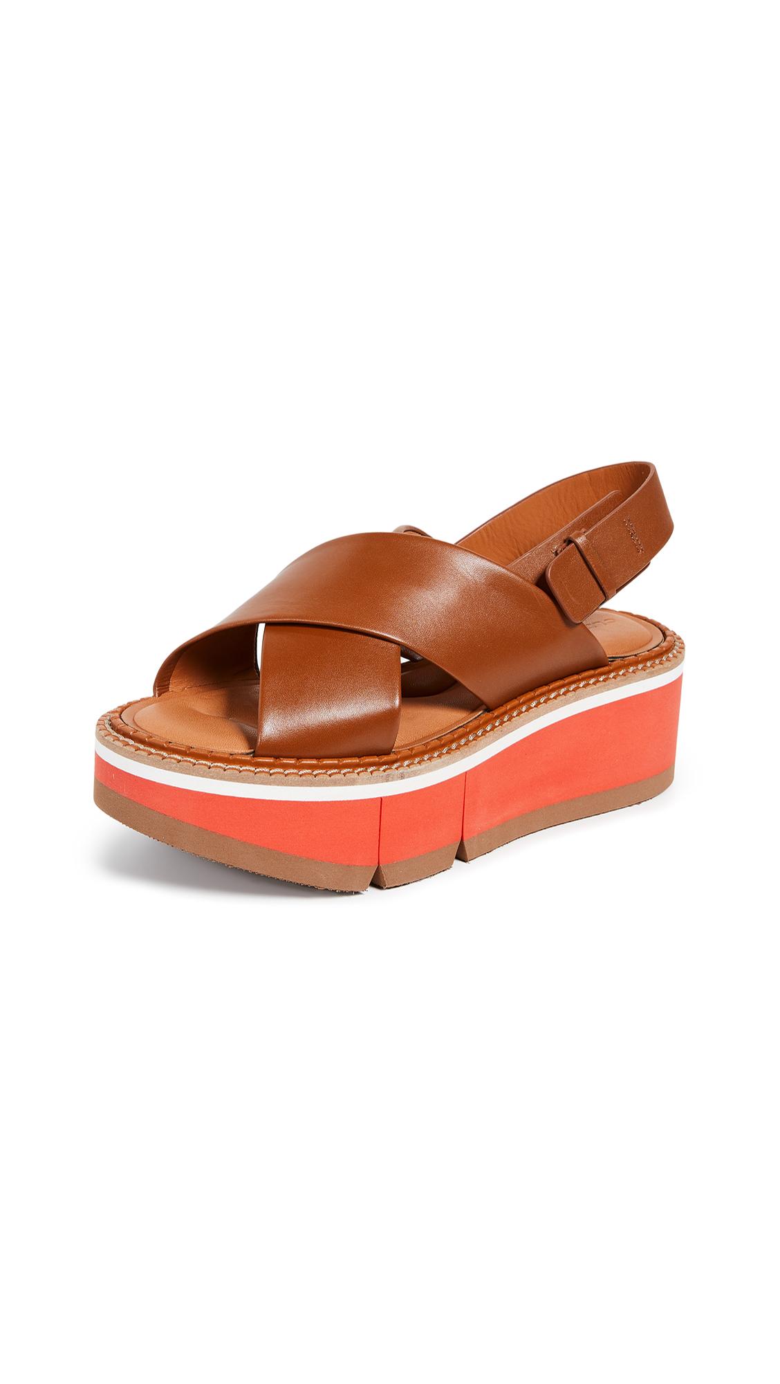 Robert Clergerie Anae Crisscross Sandals - Papaya