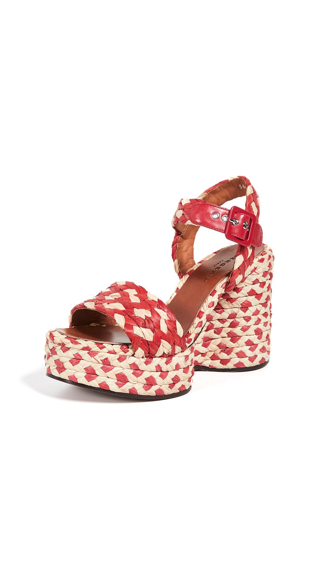 Robert Clergerie Arizona Wedge Sandals - Hibiscus