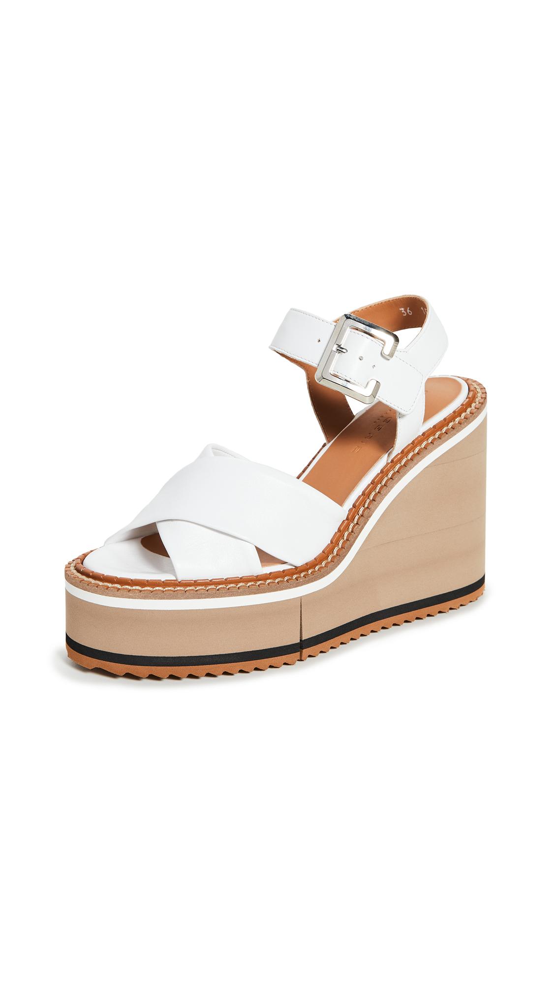 Clergerie Noemie Wedge Sandals - 55% Off Sale