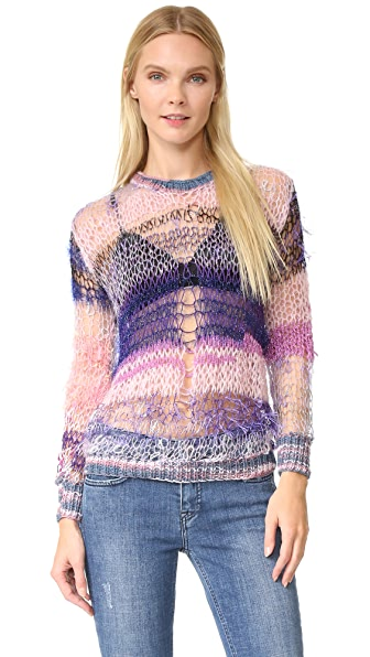 Rodarte Loose Knit Shimmer Sweater