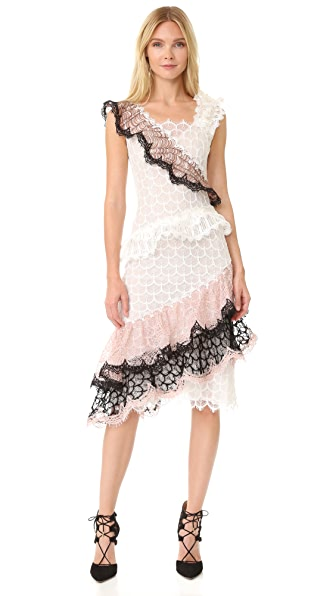 Rodarte Ruffled Lace Dress