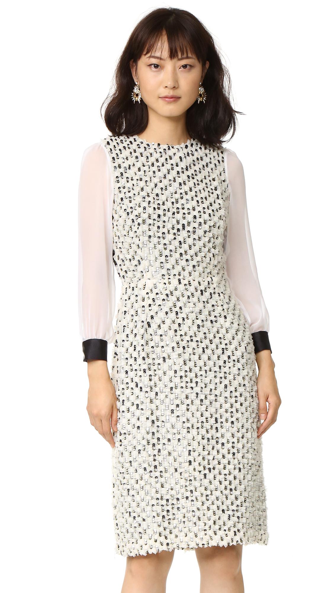 Rodarte Tulle & Sequin Dress - White
