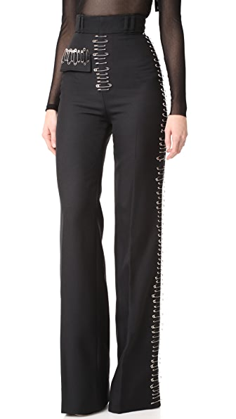 Rodarte Safety Pin Black Trousers