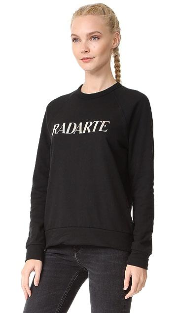 Rodarte Radarte Silver Foil Logo Sweatshirt