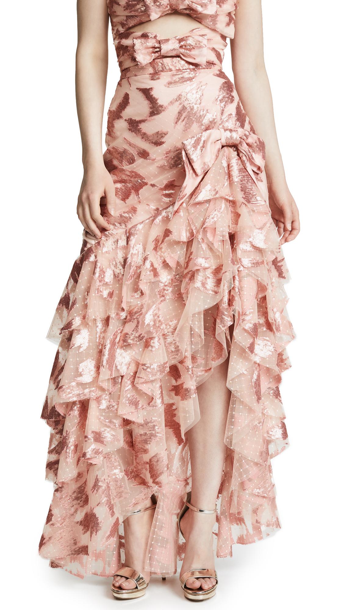 Rodarte Ruffled Skirt with Bow Detail