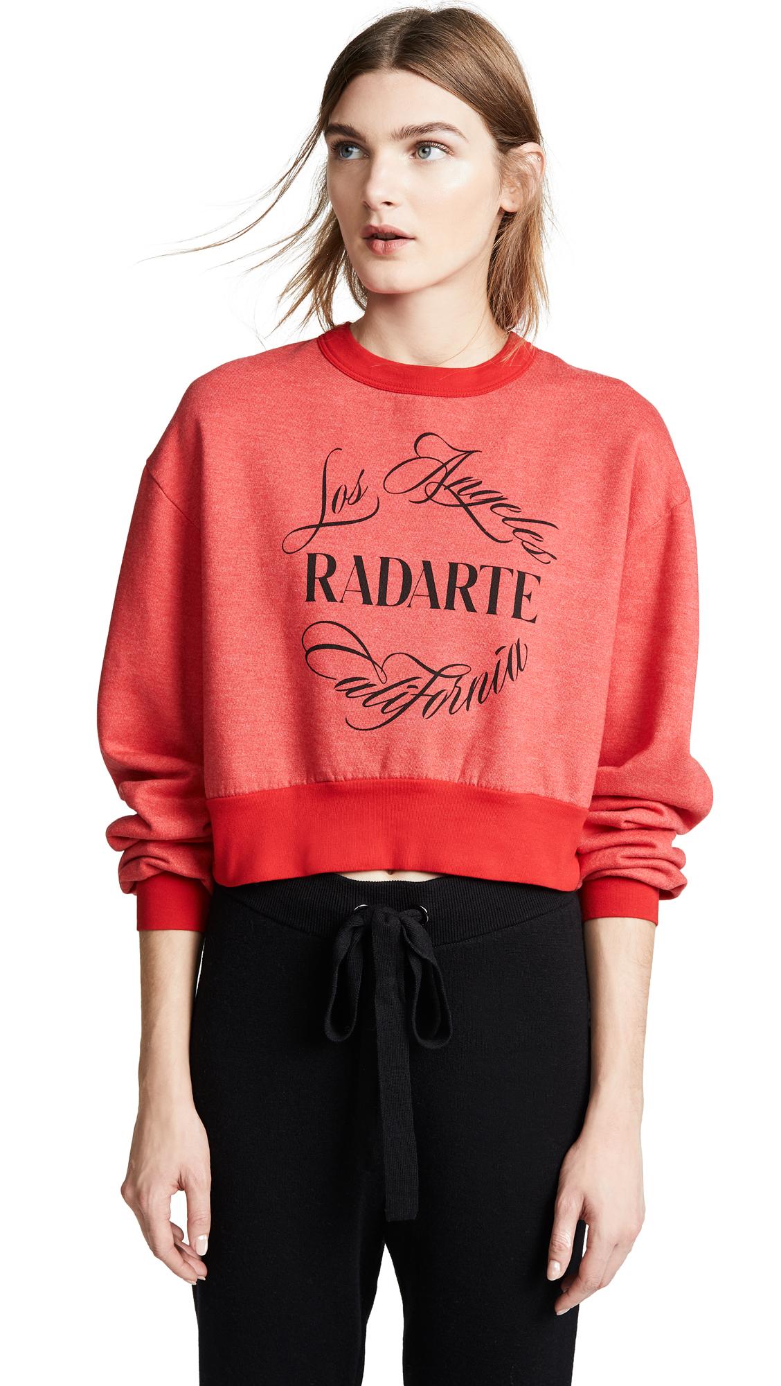 RODARTE Radarte Emblem Sweatshirt in Red/Black