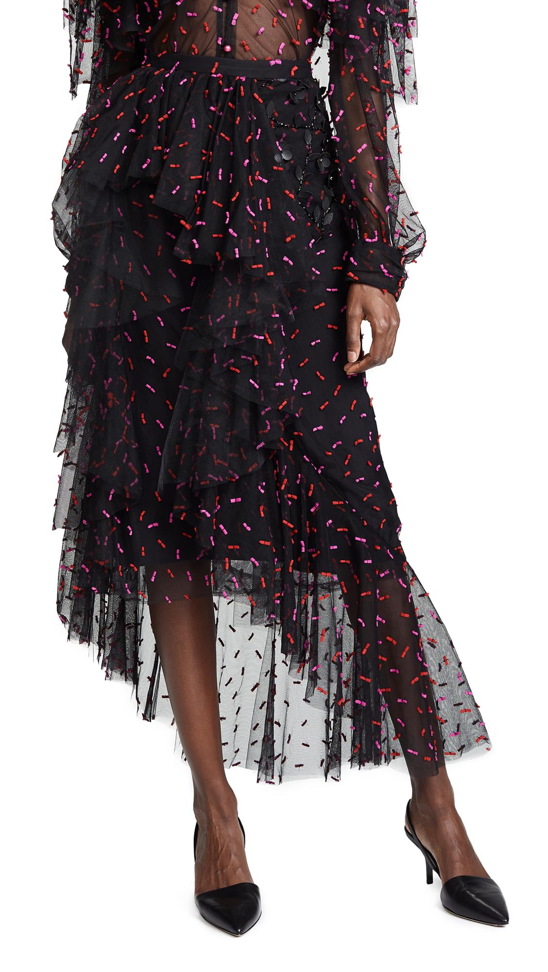 Rodarte Pleather Hip Ruffle skirt