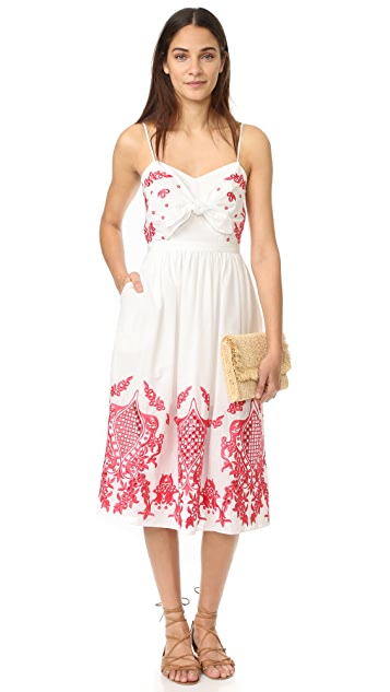 Red Carter Sage Dress