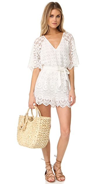 Red Carter Rue Romper