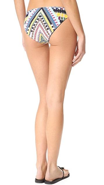 Red Carter Grand Bazaar Reversible Hipster Bikini Bottoms