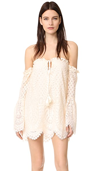 Red Carter Deidra Dress - Ivory/Sand