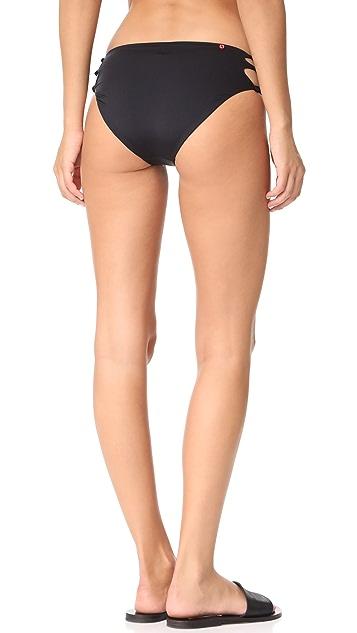 Red Carter Splice & Dice Bikini Bottoms