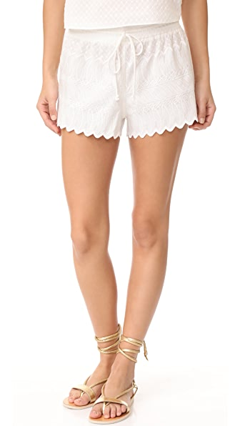 Red Carter Palazzo Shorts - Ivory