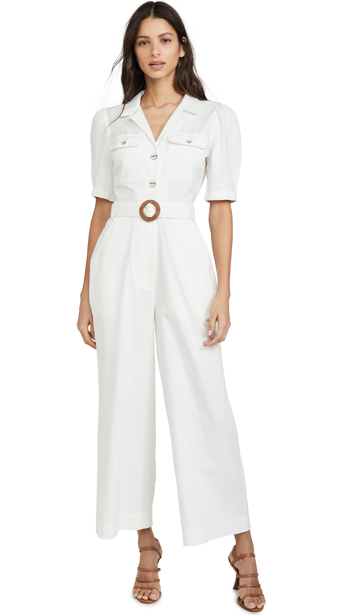 Red Carter Esther Jumpsuit In White