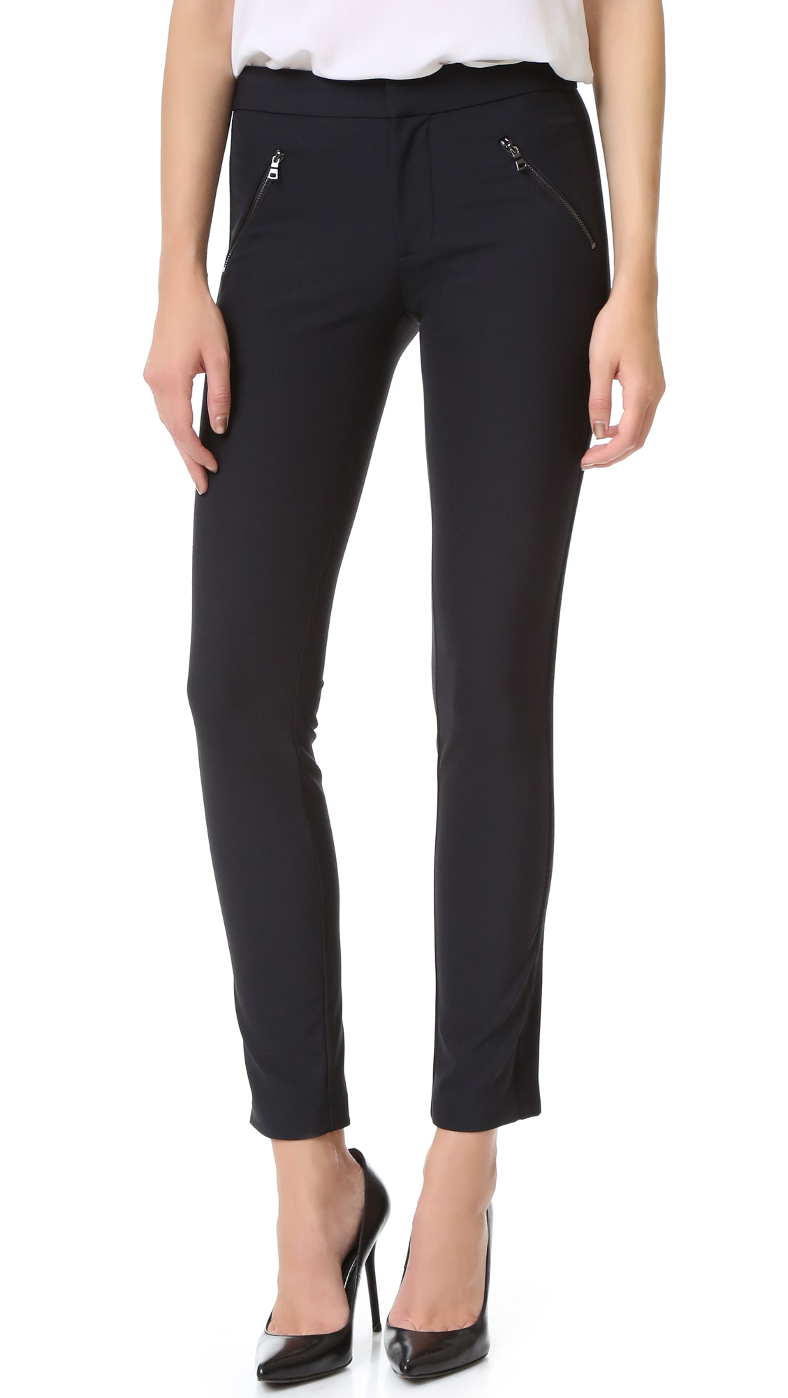Rebecca Taylor Ava Techy Pants - Black