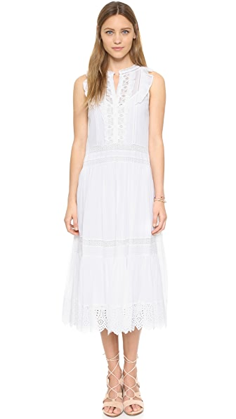 Rebecca Taylor Sleeveless Voile Lace Dress - Sea Salt at Shopbop