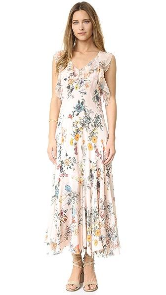 Rebecca Taylor Sleeveless Meadow Ruffle Dress - Pink Combo at Shopbop