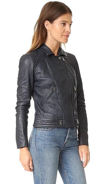Rebecca Taylor Washed Leather Jacket