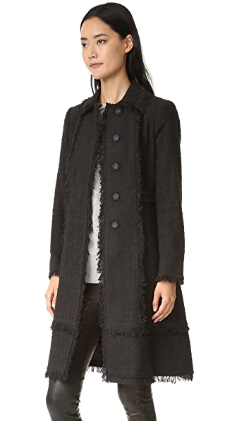 Rebecca Taylor Boucle Tweed Coat