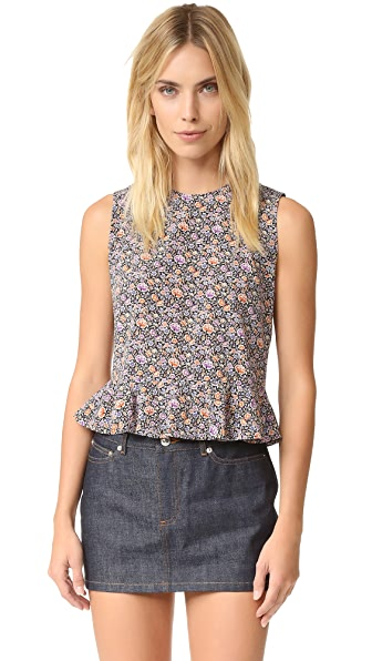 Rebecca Taylor Sleeveless Lavish Grid Top