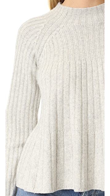 Rebecca Taylor Swing Ribbed Sweater