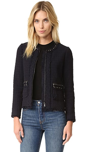 Rebecca Taylor Tweed Studded Jacket