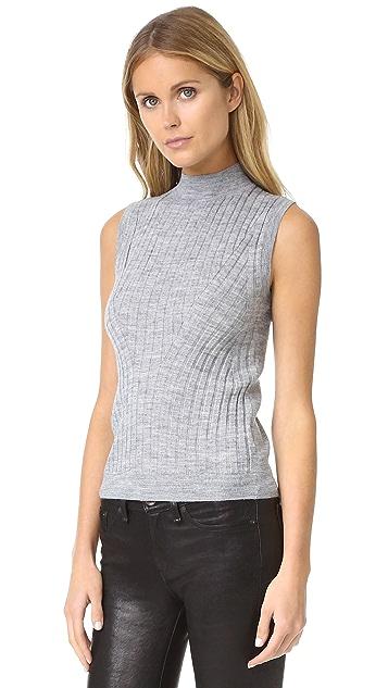 Rebecca Taylor Sleeveless Ribbed Pullover