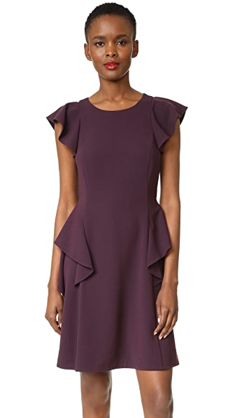 Rebecca Taylor Short Sleeve Ruffle Dress - Vamp