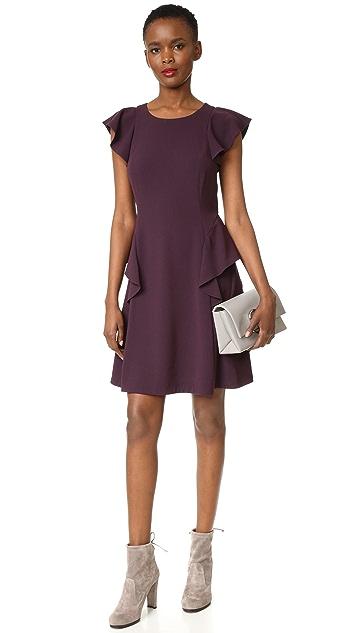 Rebecca Taylor Short Sleeve Ruffle Dress