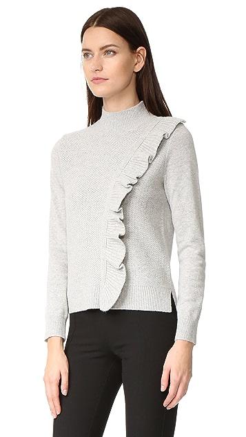 Rebecca Taylor Diagonal Ruffle Sweater